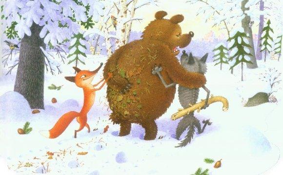 Зимовье зверей , русская